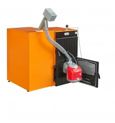 Caldera policombustible FERROLI SFL 4, quemador SUN P7 y contenedor