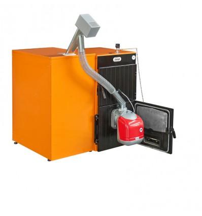 Caldera de pellets FERROLI SFL 6, quemador SUN P12 y contenedor