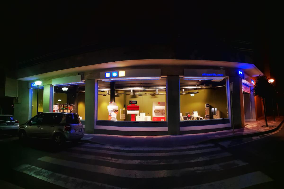 vista de calle de nuestra tienda de climatización en camí de la creu 24, Cambrils